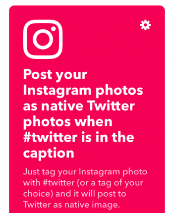 IFTTT, a useful blogger tool. Share to multiple social media platforms by only sharing to Instagram (or a different platform).